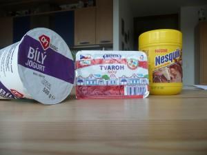 Kakaová zmrzlina - ingredience