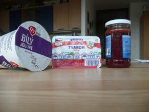 Marmeládová zmrzlina - ingredience