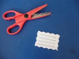 Výroba štítku na sešity