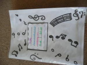 sešit na hudební výchovu